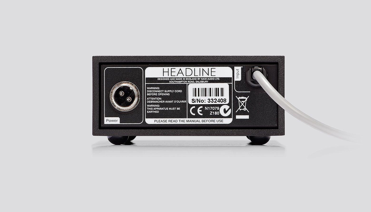 HeadLine Headphone Amplifier - Rear View