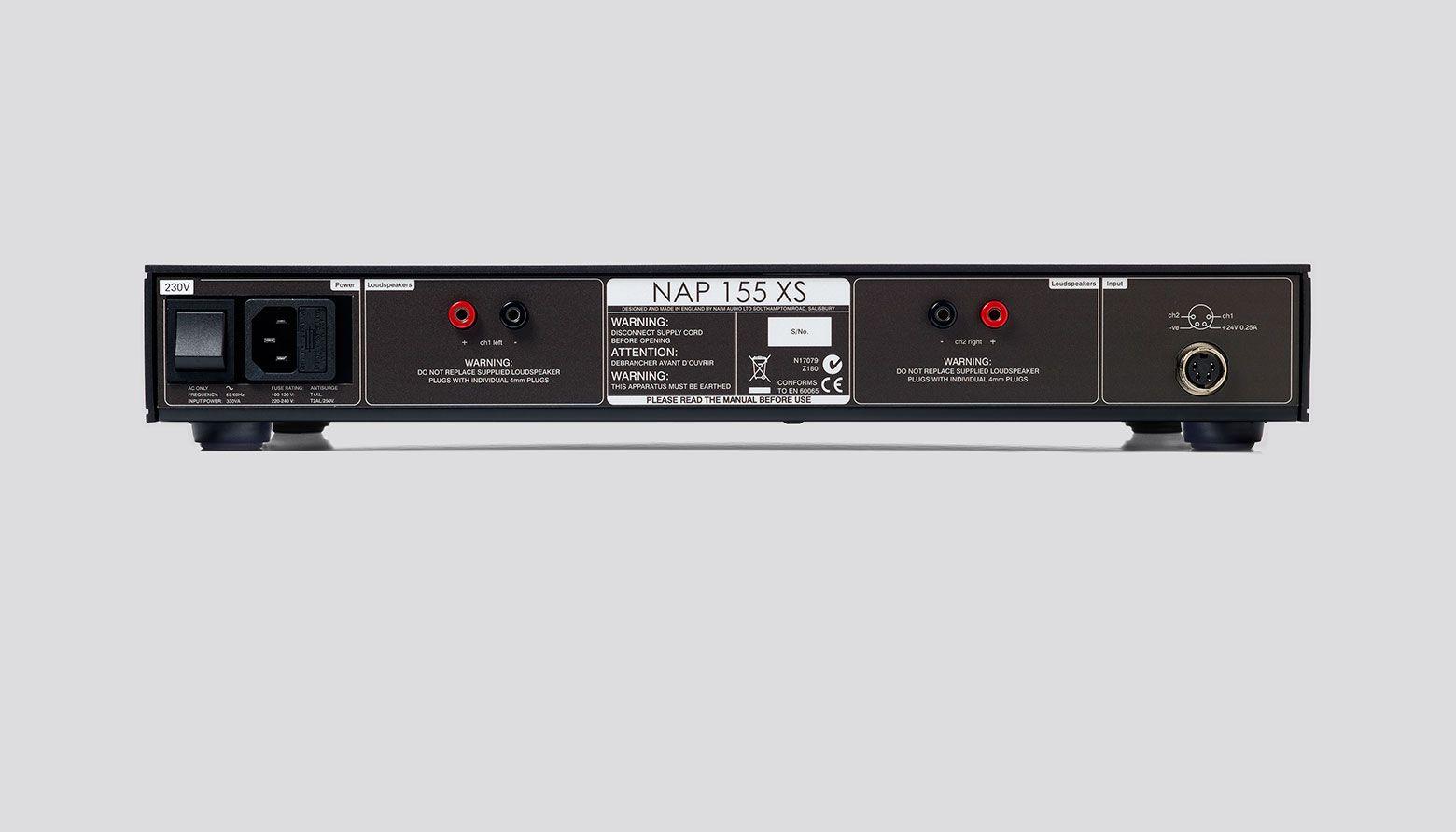 NAP 155 XS Power Amplifier  - Rear View