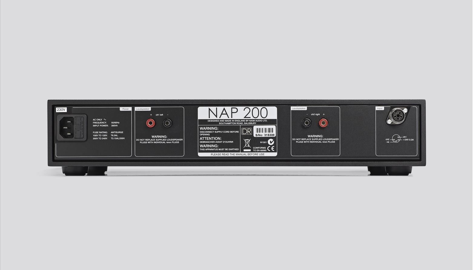 NAP 200 Power Amplifier - Rear View