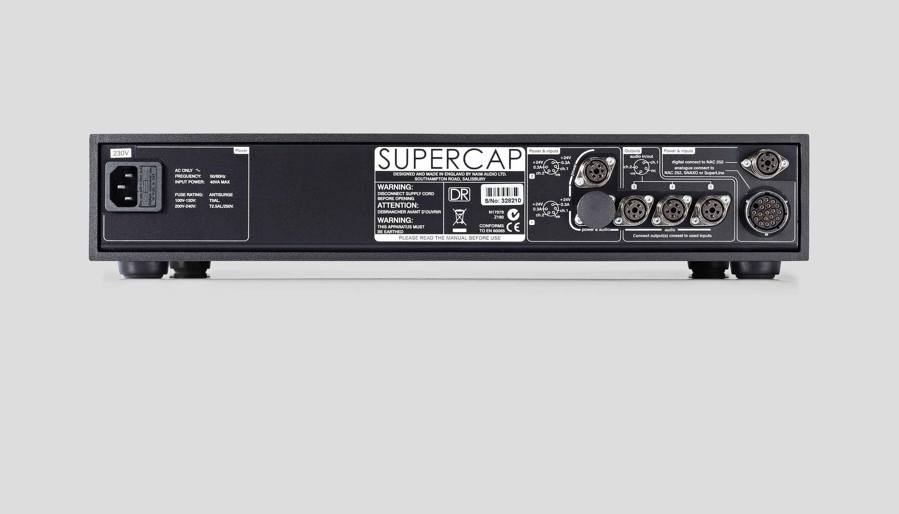 SuperCap DR Power Supply - Rear View