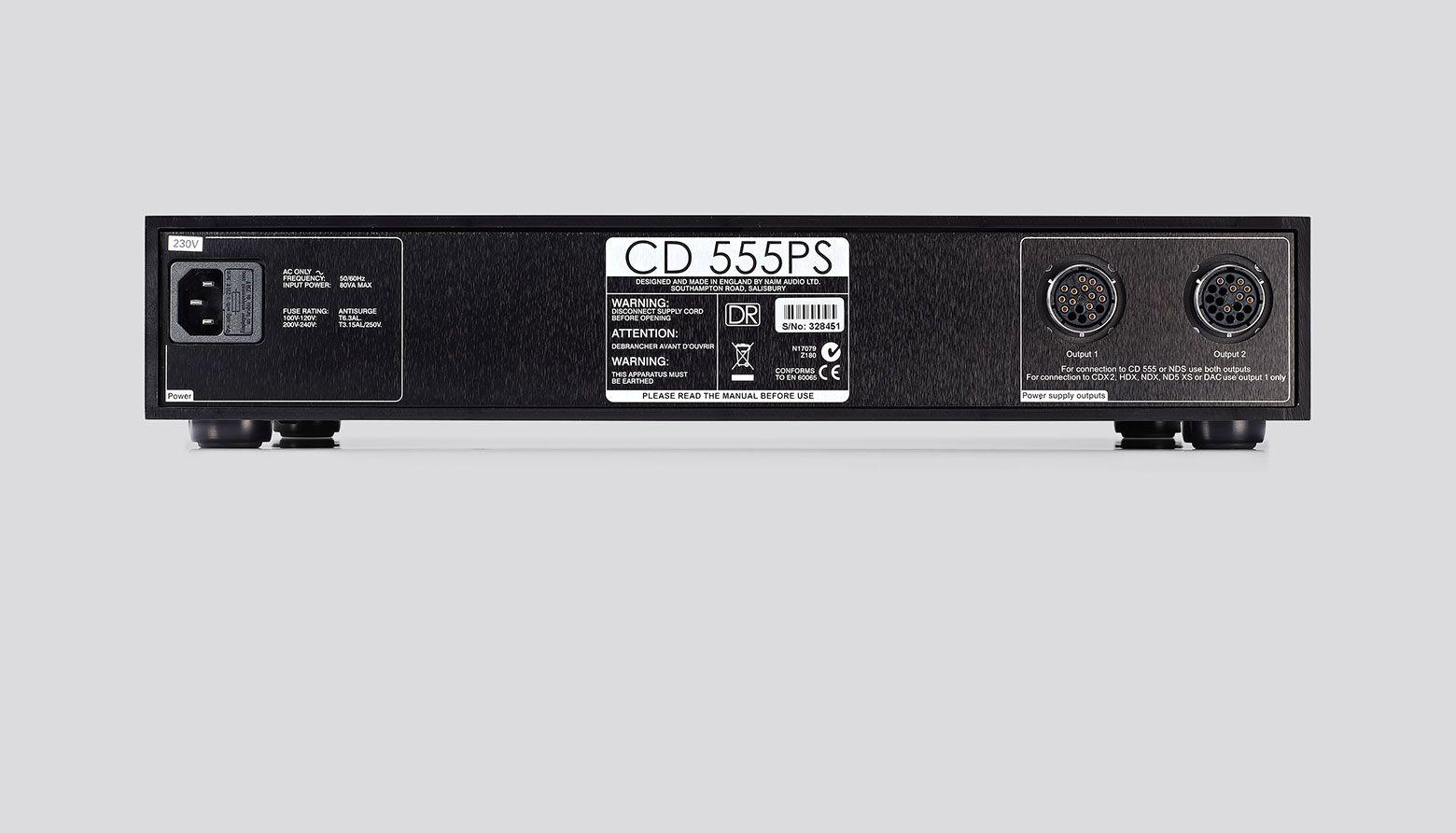 555 PS DR Power Supply - Rear View